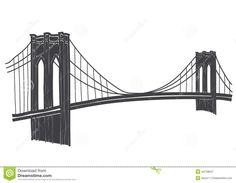 brooklyn bridge silhouette profile - Google Search