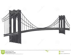 Brooklyn Bridge pattern. Use the printable outline for ...