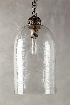 Etched Cloche Pendant Lamp #anthropologie