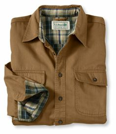 Hurricane Cloth Shirt: Flannel, Chamois and Lined | Free Shipping at L.L.Bean $64