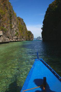 Big lagoon on Miniloc island, El Nido, Philippines