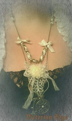 Vintage Style Bicycle necklace by Victorian Edge Jewelry