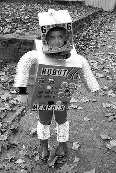 cute kids - little boy - robot