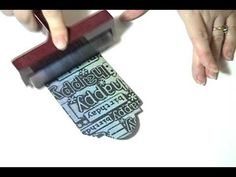 Cuttlebug Embossing & Brayer Inking Technique Video...this is so amazing!
