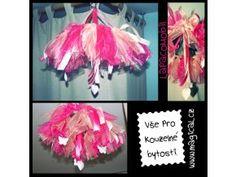 Mobil nad postýlku. #mobil #dreamcatcher #tutu #organza #pink #sweet #butterfly #romantic #home #love #princess #heart
