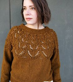 Seleste Pullover by Sari Nordlund - mYak Tibetan Fiber Ravelry, Pullover Sweaters, Men Sweater, Stockinette, Kids Hats, Pulls, Knitting Patterns, Knitting Projects, Knit Crochet