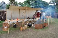 shaded living area & workspace at Largs Viking Festival