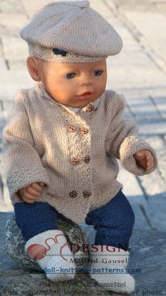 18 inch doll knitting patterns - a stylish designer suit for you doll: