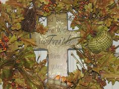 Fall Autumn Thanksgiving Wreath  FREE SHIPPING by TheVineDesigns, $65.00