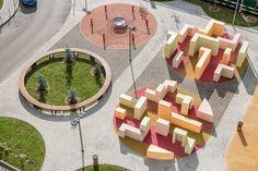 Architecture Plan, Residential Architecture, Landscape Architecture, Landscape Design, Kindergarten Interior, Street Installation, Playground Design, Parking Design, Skate Park