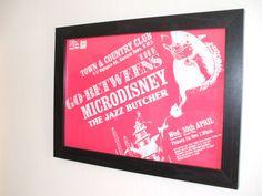 GoBetweens Microdisney Jazz Butcher Gig Poster by indieprints, $20.00
