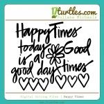 Happy Times, free gratis cameo silhouttte