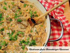 Mushroom Swiss Cheeseburger Macaroni