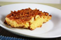 Noodle Kugel - there is potato kugel and noodle kugel – there are savory and sweet kugels.  The one I make is a sweet noodle kugel with a cornflake topping.  It is perfection!