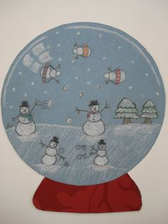 a faithful attempt: Sparkling Snow Globes Christmas Art Projects, Winter Art Projects, Christmas Crafts, Christmas Ideas, January Art, December, Globe Art, 5th Grade Art, Christmas Snow Globes