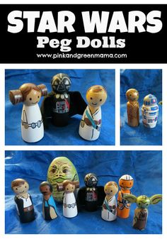 Pink and Green Mama: Star Wars Peg Dolls - DIY Toys from the Craft Room