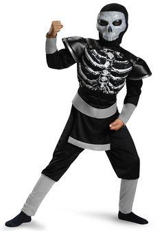 Boys Skeleton Ninja Muscle Costume