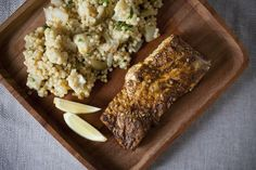Saffron-scented Vegetable Couscous with North African-spiced Halibut, a recipe on Food52