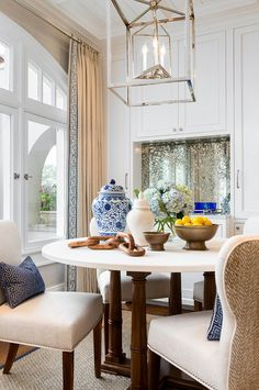 Circa Lighting Osborne Lantern above dining table. Circa Lighting, New Interior Design, Interior Decorating, Interior Ideas, Coastal Decor, Coastal Curtains, Coastal Bedding, Modern Coastal, Coastal Farmhouse