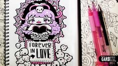 Gothic Girl - How To Draw Kawaii Doodles by Garbi KW