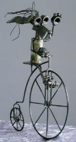 Stray Cat Art - Made In The USA.  Recycled metal art.