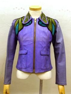 Purple suede dragonfly jacket, East West Musical Instruments