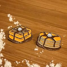 #Repost @reppinpins  Batter up! Waffle and Pancake pins available on reppinpins.com #repwhatyoulove    (Posted by https://bbllowwnn.com/) Tap the photo for purchase info.  Follow @bbllowwnn on Instagram for great pins patches and more!
