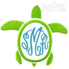 Turtle Monogram Frame
