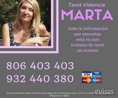 Marta Tarot Tu Vidente Personal Por Telefono  MARTA TU VIDENTE PERSONAL Las personas que me consultan, c ..  http://albacete-city.evisos.es/marta-tarot-tu-vidente-personal-por-telefono-id-687566