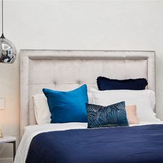 Heatherly Design offers a simply stunning range of upholstered bedheads, fully upholstered beds, footstools and storage boxes for the discerning designer. Upholstered Beds, How To Make Bed, Storage Boxes, Bedroom Furniture, Bed Pillows, Pillow Cases, Armchair, Ottoman, Velvet