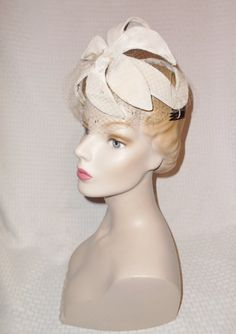 50s 60s Vintage Gray Velvet Open Crown by MyVintageHatShop on Etsy