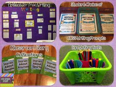 Options for Writing Center - the entire blog post details all ELA centers in a 2nd grade classroom.
