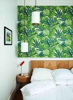 Casa de Valentina | Papel de Parede | Wallpaper | http://www.casadevalentina.com.br/blog/detalhes/papel-de-parede-2978  #home #decor #casa #decoracao #papel #parede #quarto #platas #branco #verde #madeira  #casadevalentina