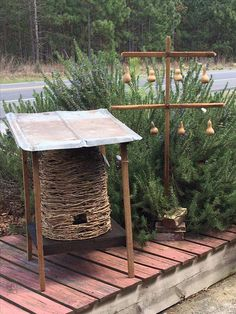 Harvesting The Honey Outdoor Projects, Outdoor Decor, Bee Skep, Bee Boxes, Birds And The Bees, Bee Crafts, Bees Knees, Bee Keeping, Yard Art