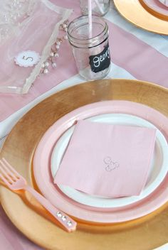 Ballerina party place setting