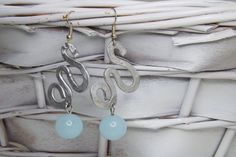 earrings aluminium glass ice by amabito on Etsy, €18.00
