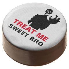 #Zombie Treat Me Sweet Bro funny Halloween custom Chocolate Covered Oreo - #Halloween happy halloween #festival #party #holiday