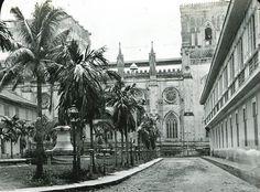 Santo Tomas Plaza and Santo Domingo Church, Intramuros, Manila. Manila, Intramuros, G Man, Walled City, Plaza, Amazing Places, Old Photos, Uni, Philippines