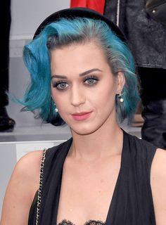 Medium, Tousled Hairstyles Katy Perry blue hair