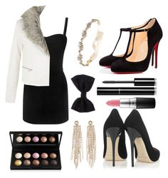 """Little Black Dress"" by iana-p ❤ liked on Polyvore featuring Alexander McQueen, Jimmy Choo, Christian Louboutin, Chanel, MAC Cosmetics, Charlotte Russe, Marchesa, Accessorize, women's clothing and women's fashion"