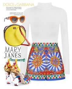 """""""Mary Janes *contest*"""" by designsbyqueen ❤ liked on Polyvore featuring WearAll, Dolce&Gabbana and Olsen"""