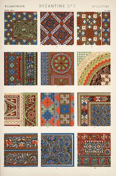 """Image Plate from Owen Jones' 1853 classic, """"The Grammar of Ornament"""" ~ by Eric Gjerde #pattern"""