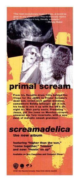 "Primal Scream, ""Screamadelica"" [1991] | 58 Vintage Ads For Alt-Rock Classics"