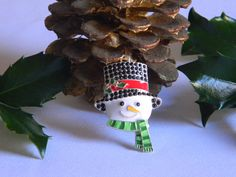 Frosty the Snowman Rhinestone Pendant with Top Hat for Bubble Necklaces Key Chain Zipper Pull Christmas Jewelry Holiday Gift Ornament Charm by HouseofHairDecor on Etsy