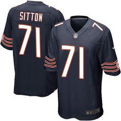 Men's Nike Chicago Bears #71 Josh Sitton Game Navy Blue Team Color NFL Jersey
