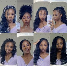 Braided Hairstyles For Black Women, African Braids Hairstyles, Braids For Black Hair, Weave Hairstyles, Pretty Hairstyles, Protective Hairstyles, Protective Styles, Baddie Hairstyles, Girl Hairstyles