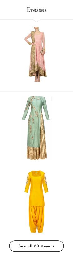 """""""Dresses"""" by deewanimastani ❤ liked on Polyvore featuring dresses, gowns, sari, saree, long dresses, medieval dress, teal evening gown, blue long dress, teal evening dress and embroidered gown"""
