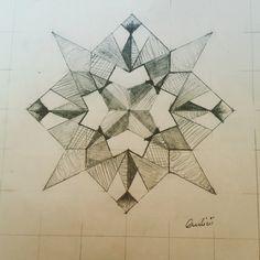 My first MANDALA ..! Primer dibujo, lineas liberación de alma..
