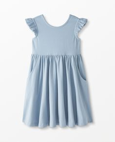 Super Soft Skater Dress | Hanna Andersson Dress Outfits, Kids Outfits, Matching Family Pajamas, Best Summer Dresses, Girls Accessories, Fitted Bodice, Girls Shopping, Skater Dress, Dresses For Sale