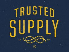 Trusted Supply by David M. Smith